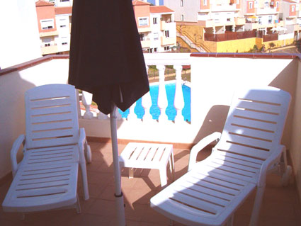 Three bedroom apartment to rent Anoreta golf Costa del Sol - Sunny Roof Terrace