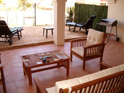 Three bedroom apartment to rent Anoreta golf Costa del Sol - Ground Floor Terrace