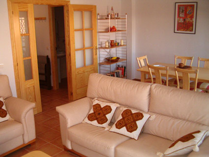 Three bedroom apartment to rent Anoreta golf Costa del Sol - Lounge/Diner