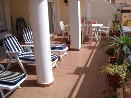 two bedroom apartment to rent anoreta golf  - Large Sunny Terrace