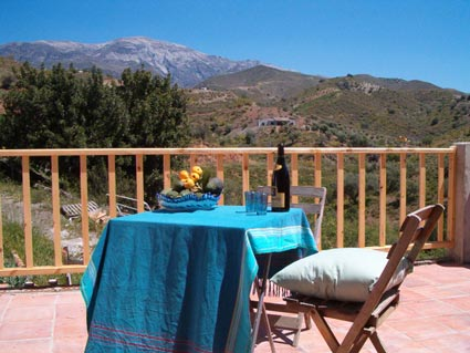 Rustic One Bedroom Apartment To Rent, near Rubite Costa del Sol, Terrace view