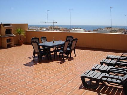 Malaga Apartment Rental, Rincon de la Victoria - Terrace with sea views