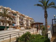 Exterior of complex of 2 bedroom apartment to rent in Torrox Costa - click for more details