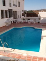 Communal Pool of 2 bed apartment to rent in Frigiliana- click for more details